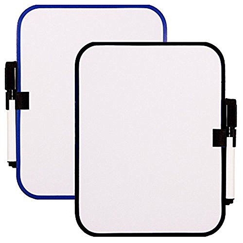 White Board Set with Magnet Strips -- 6-1/2