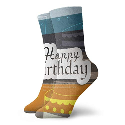 xinfub Geburtstagskarte auf Streifen Bunter Hintergrund Spaß und interessante Socken cm /.Zoll