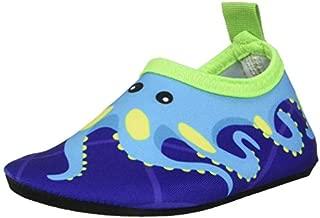 Bigib Toddler Kids Swim Water Shoes Quick Dry Non-Slip Water Skin Barefoot Sports Shoes Aqua Socks for Boys Girls Toddler (7 Toddler, Blue Octopus)
