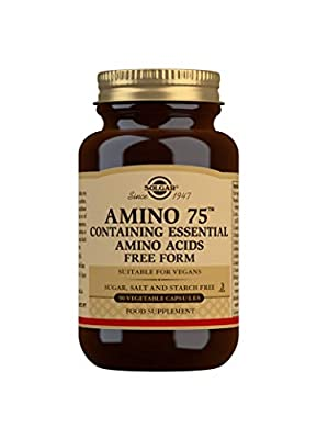Solgar Amino 75 Essential Acid Vegetable Capsules - Pack of 90