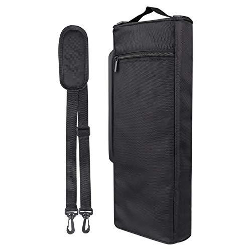 KroY PecoeD Bolsa térmica para botella aislada, acolchada con aislamiento portátil, protector de botella de vino para viajes en casa y picnic (negro)