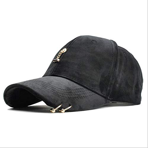 Nuevo Anillo Gorra de béisbol Mujeres Hombres Marca de Moda Street Hip Hop Gorras Ajustables Sombreros de Gamuza para niña Gorra Snapback-5 5