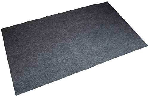 Drymate Premium Gas Grill Mat, Absorbent Grill Pad (30' x 58') – Protects Decks/Patios from Grease Splatter and Other Messes (Made in The USA) (30' x 58', Grey)