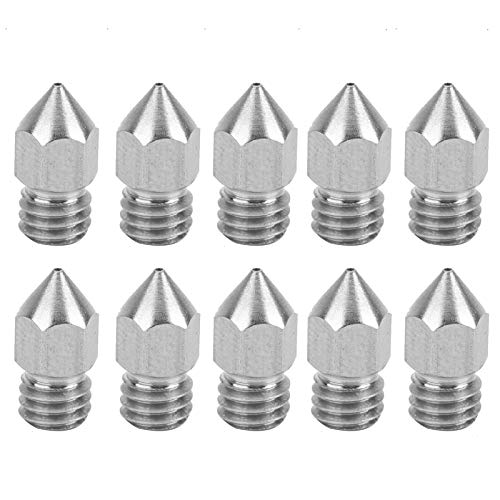 【𝐒𝐩𝐫𝐢𝐧𝐠 𝐒𝐚𝐥𝐞】3D Printer Nozzle Set, Stainless Steel Nozzles, Stainless Steel Wear-Resistant Durable Non-Stick Industrial Application DIY Requirements Extruder for 3D Printer(0.4mm)
