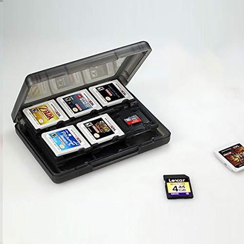 Harde Plastic Beschermende Draagtas Game Kaarten Opbergdoos Video Game Accessoires (Kleur : Zwart)