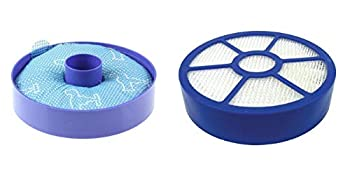 DerBlue All Floor Replacement Bundle Filter Kit for Dyson DC33 1 DC33 Washable Dust Cup Primary Filter 1 DC 33 Post Motor HEPA Exhaust Filter Generic For 919563-02 921616-01