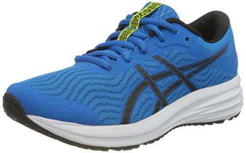 ASICS Patriot 12 GS Road Running Shoe, Directoire Blue/Black, 35 EU