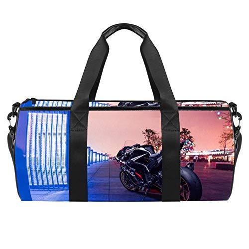 Xingruyun Sporttasche Kinder Motorrad 01 Badetasche Gym Tasche schwimmtasche Schultertaschen Reisetasche Urlaubstasche klein Fitnesstasche Sport-Taschen für Mädchen Jungen 45x23x23cm