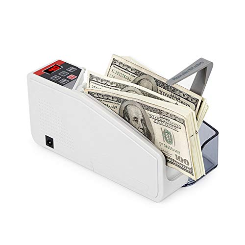 TYX-SS Portable Banknote Counting Machine,Mini Counterfeit Detector,Counts All World Currencies Battery Powered
