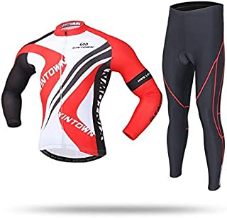 BEESCLOVER Cycling Sets 15 Colors Team Men's Cycling Clothing Bike Bicycle Long Sleeve Jersey Jacket Tights Pants Bike Equipment