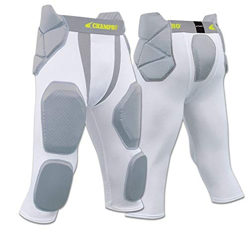 FPGU7 Champro Man Up 7 Pad Girdle football pant CH White YOUTH SMALL