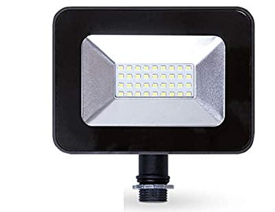 ASD LED SMD Slim Floodlight with arm, Black