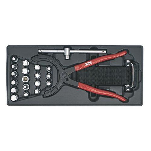 Sealey TBT28 Boîte d'outils avec clé à Filtre à Huile, Pinces et Bouchon de vidange 21 pièces