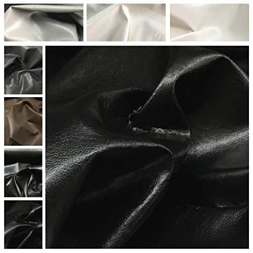Panini Tessuti Ecopelle Morbida Effetto Cuoio Lucido - Venduto a Mezzo Metro X 140 cm (Larghezza Fissa)-1 qtà=50cm;2qtà=100 cm.Ideale per divani,poltrone,Borse,sedie e tappezzeria