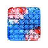 YAQI Popit Juguete sensorial de burbujas para hiperactividades, autismo, necesidades especiales, Fidget Popper de silicona simple, para niños o adultos, juguetes para aliviar la ansiedad