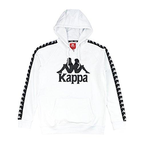 Kappa Herren 222 Banda Anniston Trainingsjacke, Weiß, L