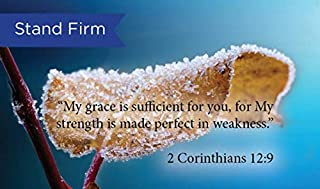Pass Along Pocket Scripture Cards, Stand Firm, 2 Corinthians 12:9, Pack of 25