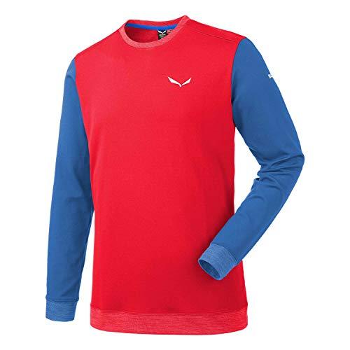 Salewa Sesvenna Pl M L/S Tee - T-Shirt à Manches Longues pour Homme, Couleur Rouge, Taille 50/L