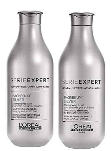 2er Loreal Professional Magnesium Silver Shampoo Serie Expert gegen Silber Stich 300 ml