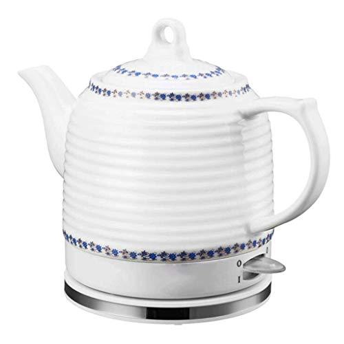 Bouilloire en porcelaine bleue et blanche Base amovible Cuisine cuisson protection à sec (facile) fait bouillir l'eau rapidement pour le thé soupe au café flocons d'avoine 1,2L