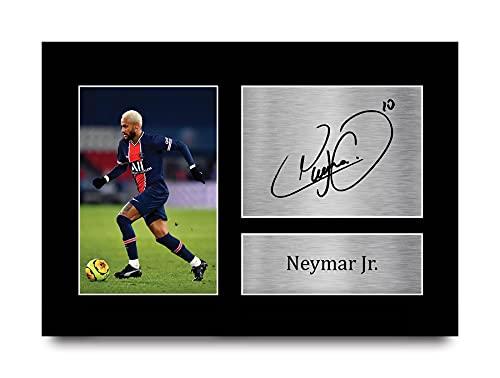 HWC Trading Neymar Jr A4 Ungerahmt Signiert Gedruckt Autogramme Bild Druck-Fotoanzeige Geschenk Für PSG Fußball Fans