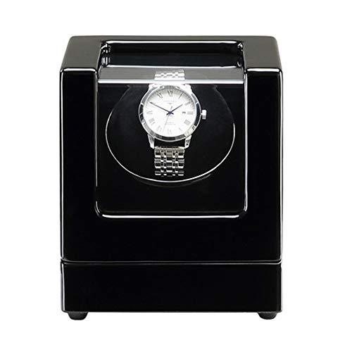 ZNND Caja Enrolladora Automática Un Solo Reloj Acabado Pintura Piano Almohadas Soft Watch Motor Silencioso Adaptador CA Y Batería (Color : D)