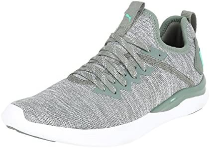 PUMA Ignite Flash Evoknit Wn's, Zapatillas de Running Mujer, Verde (Laurel Wreath/Quarry/Green), 36 EU