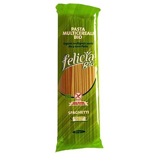 Spaghetti Bio 4 de grano de 500 g, paquete de 3 (3 x 500 g), sin gluten