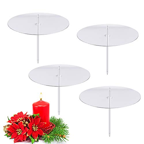 FHzytg 6cm Kerzenhalter Adventskranz, Kerzenteller Adventskranz Kerzenhalter für Adventskranz Kerzenteller mit Dorn, Kerzenhalter mit Dorn Kerzenhalter Stecker für Adventskranz