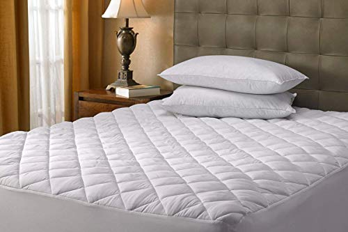 Aaf Textiles Mattress Protector King Quilted Polycotton Cover Extra Deep 30cm Hypoallergenic All Uk Sizes Hotel Quality (King)