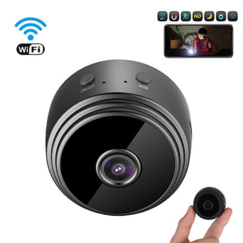 Mini Cámara espía HD 1080P WiFi Cámara de Seguridad Portátil Interior/Exterior Detección de Movimiento/Vision Nocturna Cámara de Vigilancia