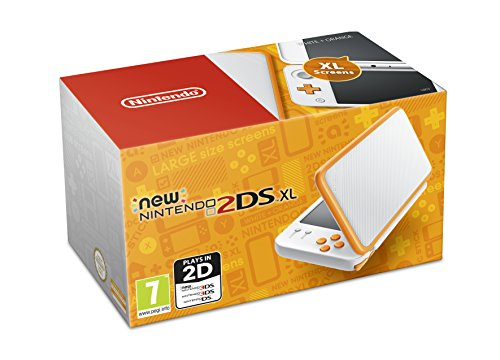 Nintendo Handheld Console - New Nintendo 2DS XL - White and Orange