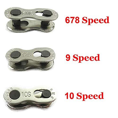 Gwgbxx 1 par de 2 Cadenas de Bicicleta de montaña Cadenas Bici del Camino, Compatible con 6/7/8/9/10 11 velocidades rápidas Principal Cadenas de Acoplamiento (Color : 9 Speed)