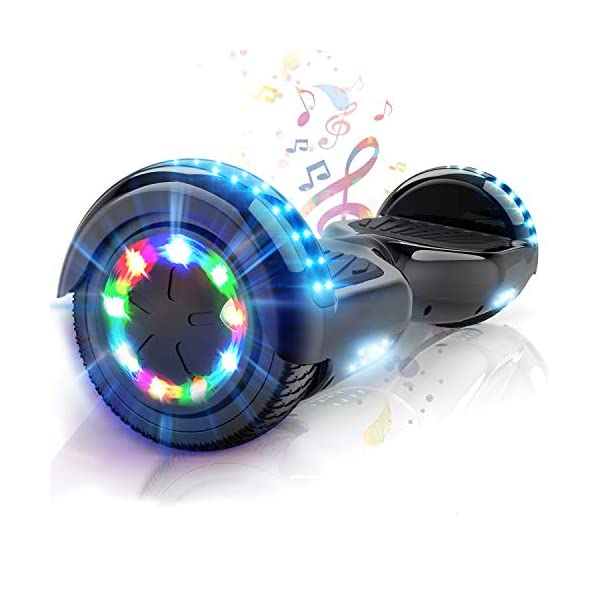 Electric Scooters COLORWAY Self Balancing Scooter 6.5 inch – Hoverboard Electric Scooter – Bluetooth Speaker LED lights & Powerful Motor…