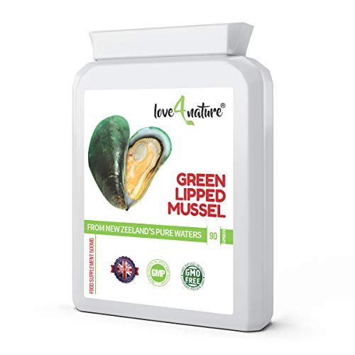 Love 4 Nature   Green Lipped Mussel 500mg   Helps Maintain Healthy Joints & Supports The Immune System   from The Pure Waters of New Zealand   90 Capsules