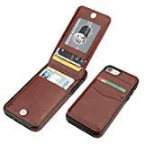 KIHUWEY iPhone 7 iPhone 8 iPhone SE 2020 Case Wallet with Credit Card Holder, Premium Leather Magnetic Clasp Kickstand Heavy Duty Protective Cover for iPhone 7/8/SE 4.7 Inch(Brown)