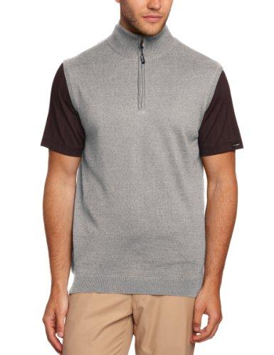 Calvin Klein heren trui van merinowol, voor golf, met ritssluiting kraag