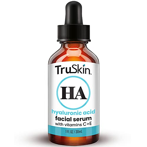 TruSkin Hyaluronic Acid Serum for Face with Vitamin C, Vitamin E and Green Tea, Plant-Powered Anti-Aging Facial Skin Care, Best for Firming, Hydrating, Moisturizing, Plumping Fine Lines, 1 fl oz