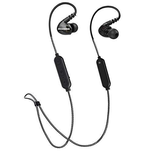 Kabellose Sport-Kopfhörer, IPX6, wasserdicht, Geräuschunterdrückung, Bluetooth-Kopfhörer für Laufen und Workout, 9 Stunden Lange Spielzeit, tiefer Bass und HD-Stereo-Kopfhörer