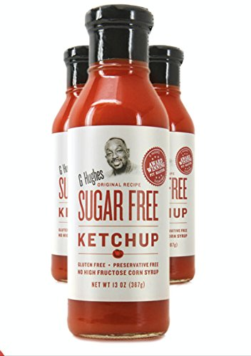 G Hughes Gluten Free, Preservation Free, Sugar Free Ketchup 13 Oz | 3 Pack