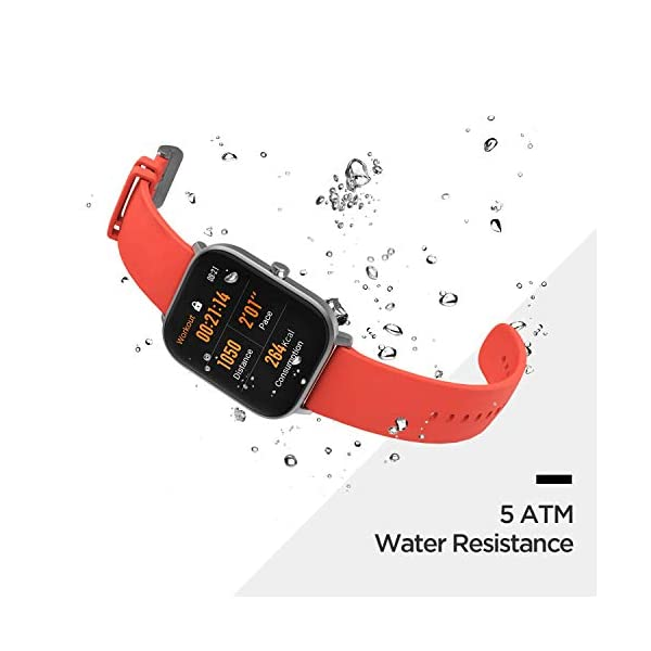 Amazfit GTS Fitness Smartwatch with Heart Rate Monitor, 14-Day Battery Life, Music Control, 1.65″ Display, Sleep and Swim Tracking, GPS, Water Resistant, Smart Notifications, Desert Gold