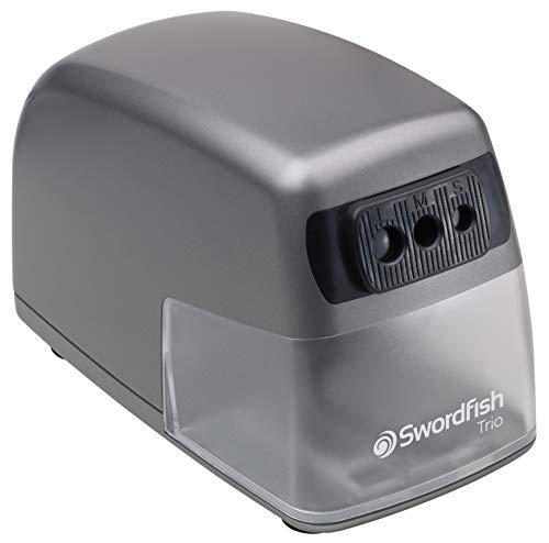 Swordfish Trio 40906 - Sacapuntas eléctrico (tamaños 8, 9,5 y 11mm)