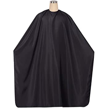 1 Pcs Professional Hair Salon Cape with Adjustable Snap Closure/65x49inch Black Waterproof Hair Cutting Coloring Styling Gown, Beauty Supplies Makeup Cape Hairdressing Cape for Hair Stylist