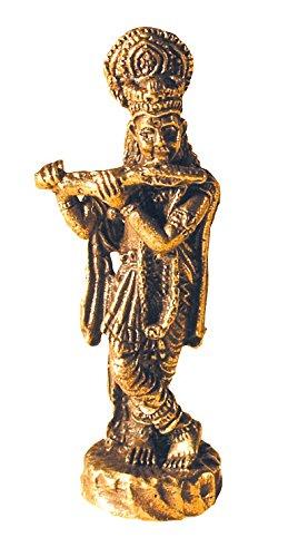 Saraswati Statue Krishna stehend Figur aus Messing 3cm Dekoration Buddhismus