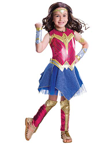 Rubie´s Deluxe Wonder Woman Dawn of Justice, costume enfant - Grande - Version Anglaise