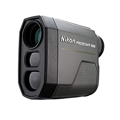 Nikon Prostaff 1000 Laser Rangefinder, 6x20mm, 6-1000 Yards, 1 x CR2 Lithium Battery, Black, 16664 by Nikon