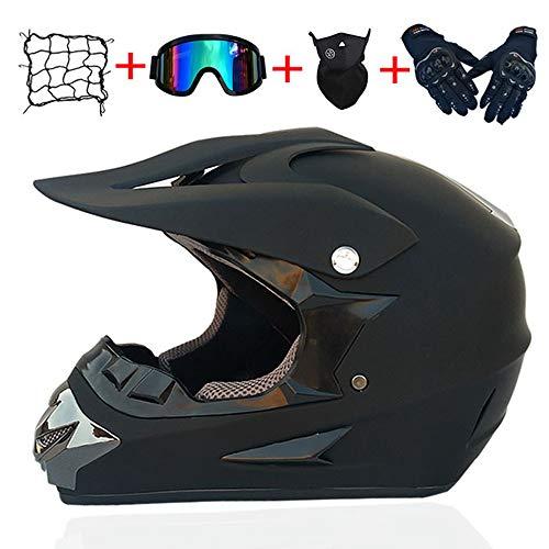 Erwachsene Jugend Downhill Helm Geschenke Brille Maske Handschuhe Netztasche BMX MTB ATV Bike Race Integralhelm,C,M