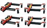Dragway Tools (4) 12in. Hydraulic Car Wheel Dolly & 1500 lb Capacity