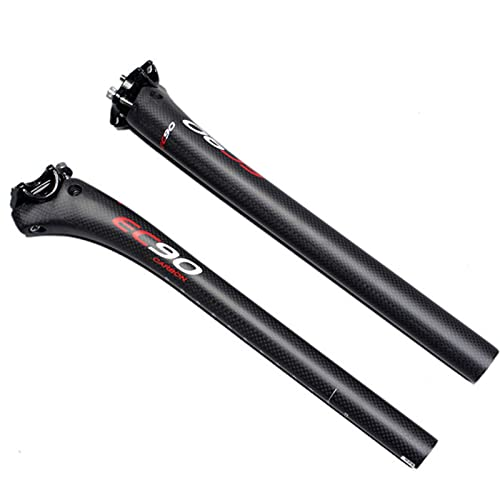 ZNBH Poste de Asiento de Bicicleta súper Ligero de Carbono Completo Poste de sillín de suspensión Poste de sillín de suspensión Postes de sillín de Bicicleta de Carretera Tubo de sillín Piezas de
