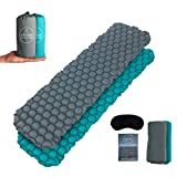 Antur Supply Co Camping Sleeping Mat Lightweight Air Bed - Best Inflatable Roll Up Mattress - For Backpacking, Hiking & Tent with Repair Kit & Sleep Mask 550g